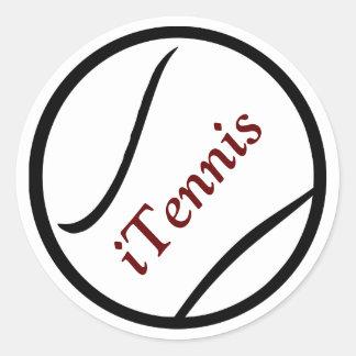 svart iTennis och röd tennisbollklistermärke Runt Klistermärke