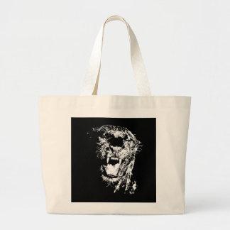Svart jaguar jumbo tygkasse
