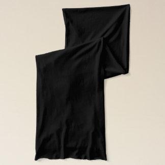 Svart Jersey Scarf Sjal