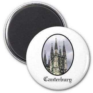 Svart jGibney för England Canterbury kyrkaspiraler Magnet Rund 5.7 Cm