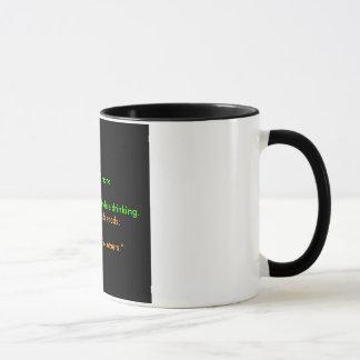 Svart kaffe mugg