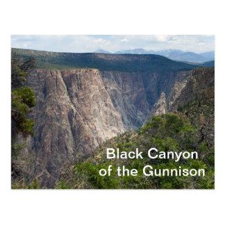 Svart kanjon av den Gunnison nationalparken Vykort