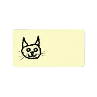 Svart katt adressetikett