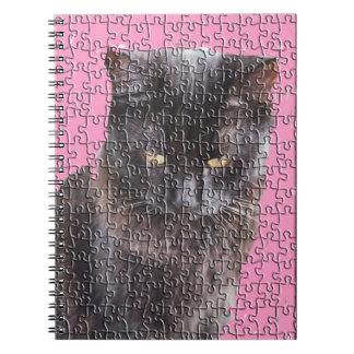 Svart katt anteckningsbok
