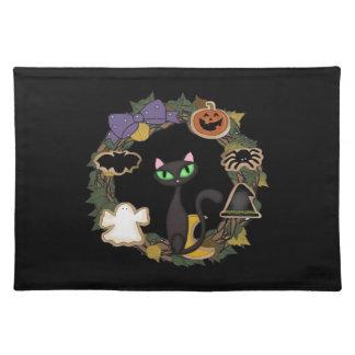Svart katt Halloween Bordstablett