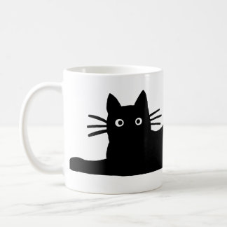 Svart katt kaffemugg