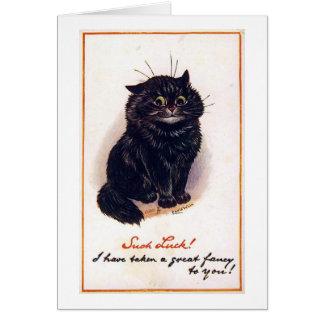 Svart katt, Louis Wain Hälsningskort