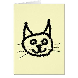 Svart katt OBS kort