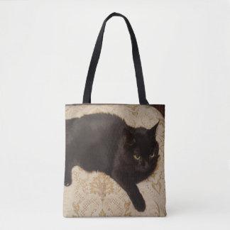 Svart katt Roxie Tygkasse