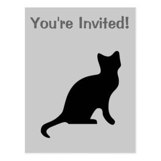 Svart katt - spöklikt läskigt vykort