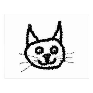 Svart katt vykort