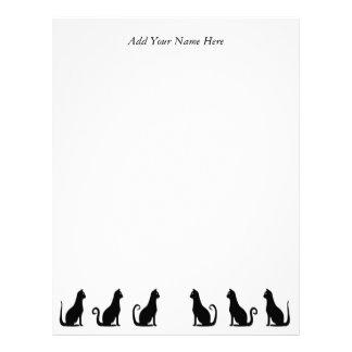Svart kattdesign brevhuvud