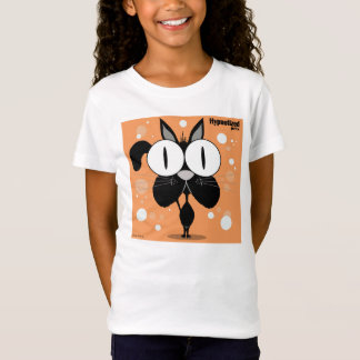 Svart kattflicka T-tröja för Bella inpassad Tee Shirts