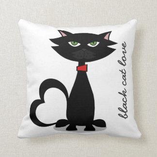 svart kattkärlek - kattunge Kushion Kudde