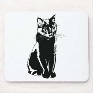 Svart kattSilhouette Musmattor