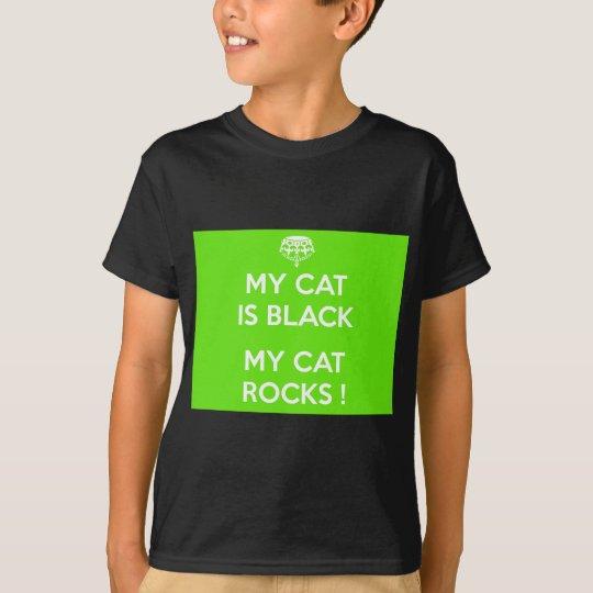 Svart kattstenar t shirts