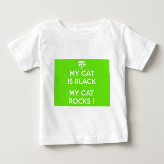 Svart kattstenar tee shirt