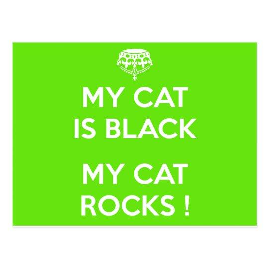 Svart kattstenar vykort