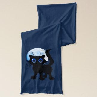 Svart kattunge för bus eller godis halsduk