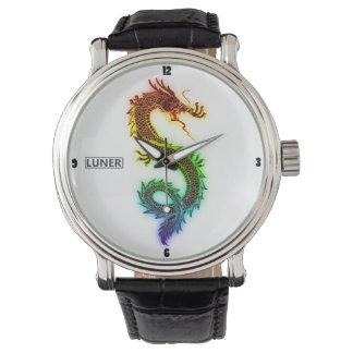 Svart klocka för drake för vintageläderregnbåge