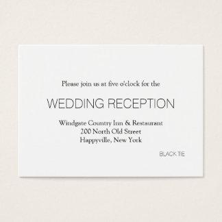 Svart kort för bilaga för Tiebröllopmottagande