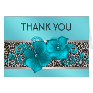 Svart kort för tack för krickablåttLeopard