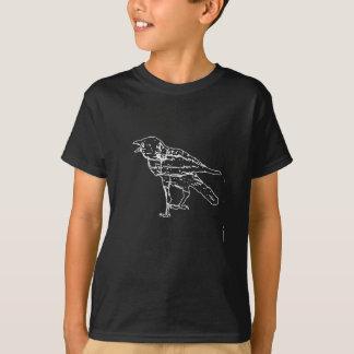 Svart kråka tee shirt