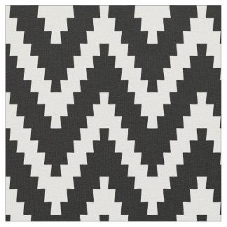 Svart & kräm- tyg för Ziggurat sparremönster