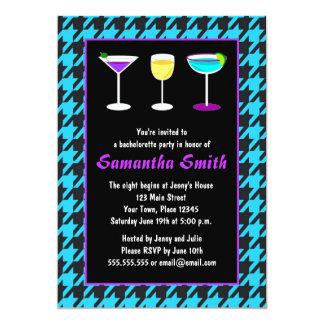 Svart- & krickaHoundstooth Bachelorette party 12,7 X 17,8 Cm Inbjudningskort