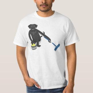 Svart krulla för Labrador Retriever T-shirt