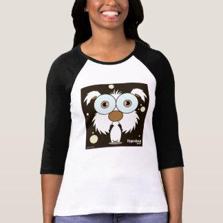 Svart) kvinna för hund (T-tröja T Shirts