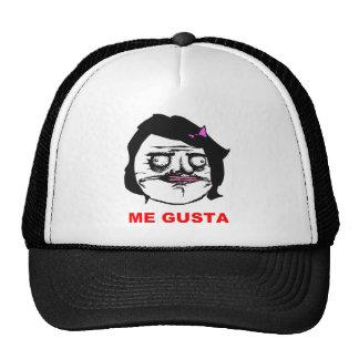 Svart kvinnligt mig Gusta komiskt ursinneansikte Keps