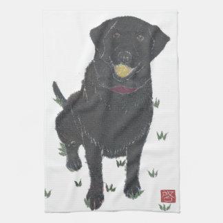 Svart lab Labrador Retriever Kökshandduk
