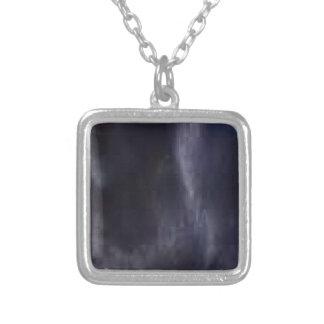 svart lab pälshalsband silverpläterat halsband