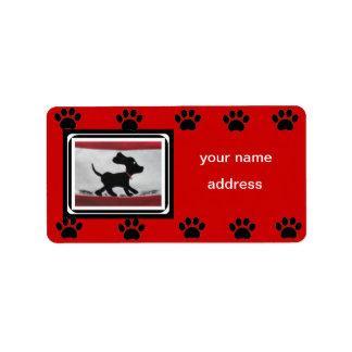 svart labrador hundreturetiketter adressetikett