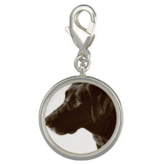 Svart Labrador Retriever Berlock