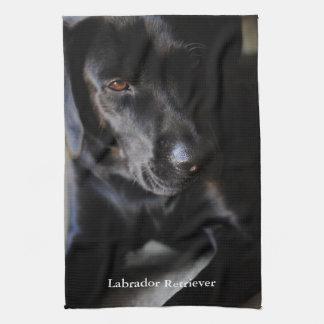 Svart Labrador Retriever Kökshandduk