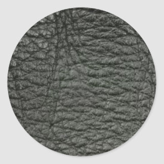 Svart läder verkställer runt klistermärke