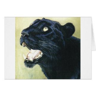 """""""Svart Leopard """", Hälsningskort"""