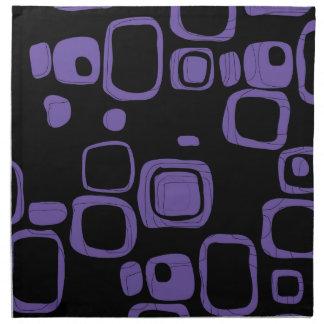 Svart lila, violetta Retro abstrakt konstservetter Tygservett