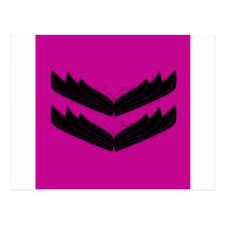 Svart lilor för konstnärlig vingar vykort