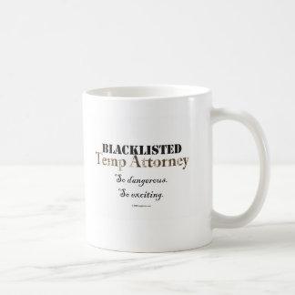 Svart listad vikarieadvokatmugg kaffemugg