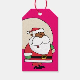 Svart märkre för gåva för papper för Santa Presentetikett