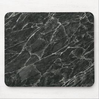 Svart marmor mus matta