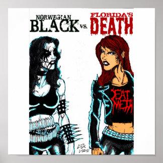 Svart metall Vs. dödmetall Poster