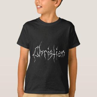 Svart metallkristen t-shirt