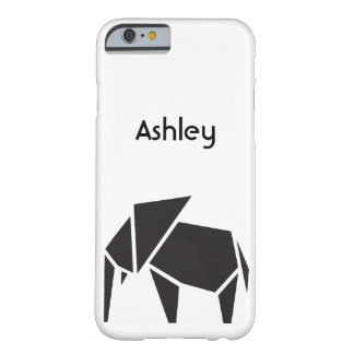 Svart moderiktig elefantsymboldesign barely there iPhone 6 skal