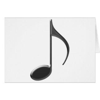 Svart musik noterar hälsningskort