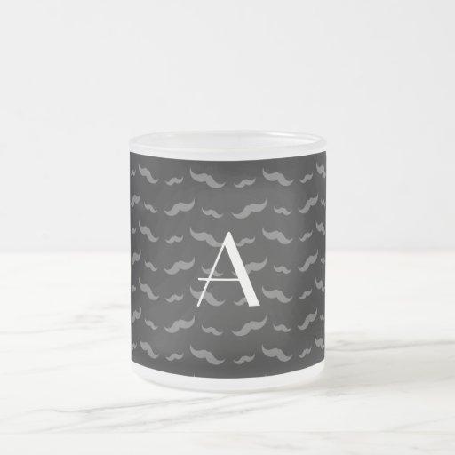 Svart mustaschmönster för Monogram Kaffe Kopp