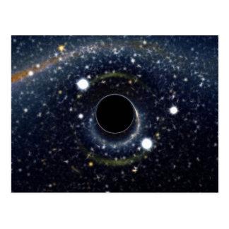 Svart NASA för hålEinstein ring Vykort